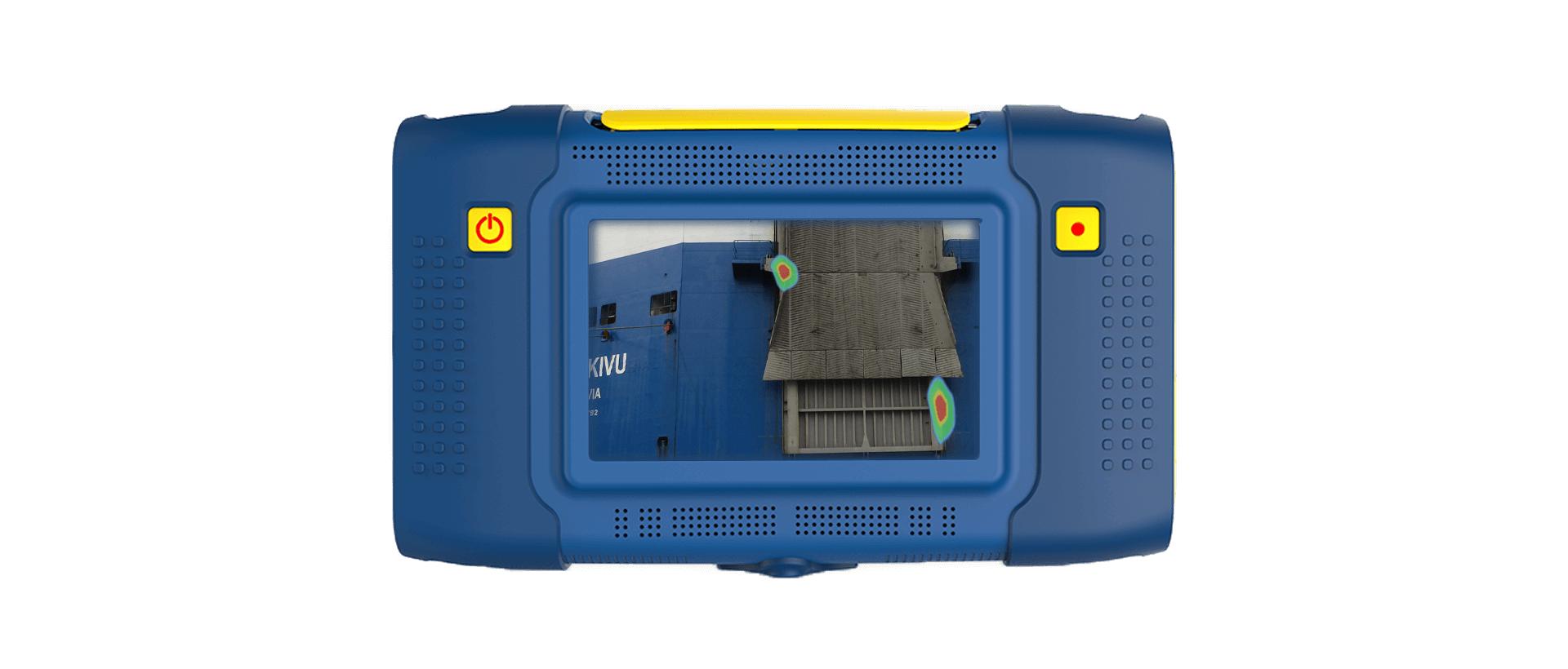 Visualizing ultrasound for freight ship tightness testing